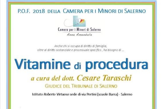 P.O.F. 2018 della Camera per i Minori di Salerno – ISCRIVITI –